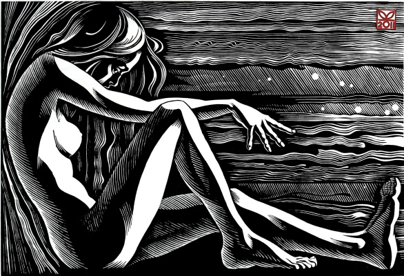 "Vladimir Kataev. ""Situation 2"", 43 x 63, linocut, 2011"