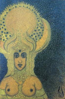Николай Константинович Калмаков. Богиня. 1928 золотая краска