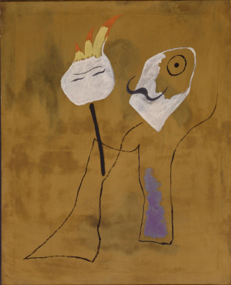 Joan Miro. A man and a woman