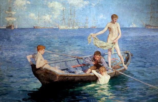 Tuke Henry Scott. 1858-1929. August Blue, 1893-94