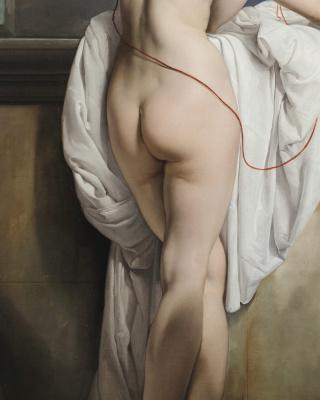 Francesco Ayets. Venus with two pigeons (Portrait of a ballet dancer Carlotta Chaber). Fragment