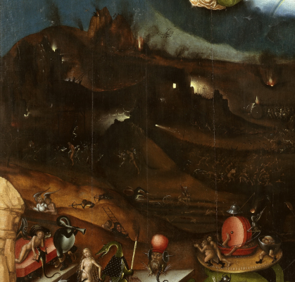 Lucas Cranach the Elder. Altar. The Last Judgment (by Jerome Bosch) Last Judgment Center Picture Gallery of Old Masters, Berlin detail