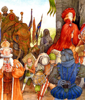 Патрик Джеймс Линч. Иллюстрация к книге Мелизанда 09