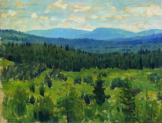 Apollinarius Mikhailovich Vasnetsov. Ural landscape