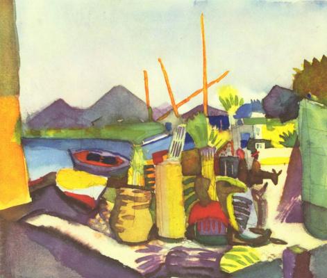 Август Маке. Пейзаж близ Хаммамета