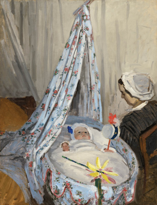 Claude Monet. Cradle. Camille with the artist's son Jean