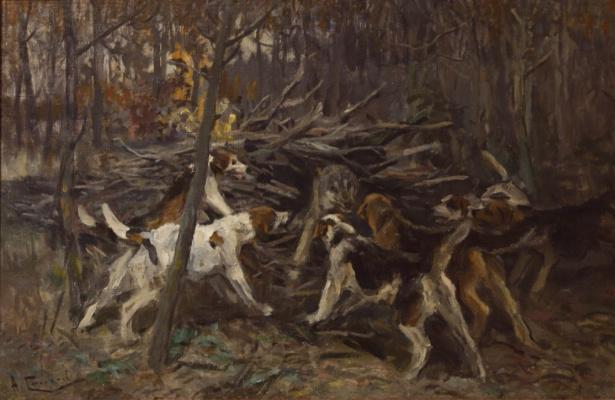 Alexey Stepanovich Stepanov. Wolf hunting