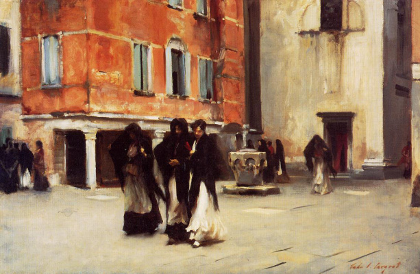 John Singer Sargent. Leaving Church Campo San Canciano. Venice