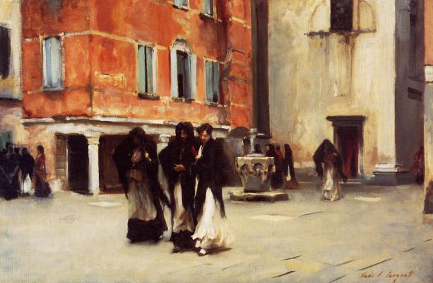 John Singer Sargent. Leaving Church Campo San Canciano. Venice