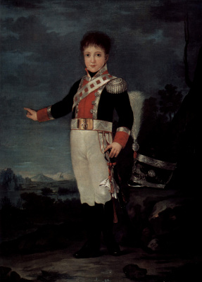 Francisco Goya. Portrait of don Sebastian Gabriel de Borbon-and-Braganca