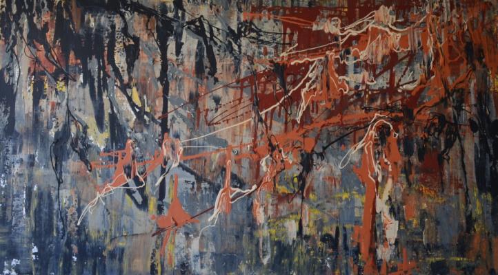 "Tanya Vasilenko. ""Caramel"", acrylic on canvas. Caramel. Acrylic on canvas."