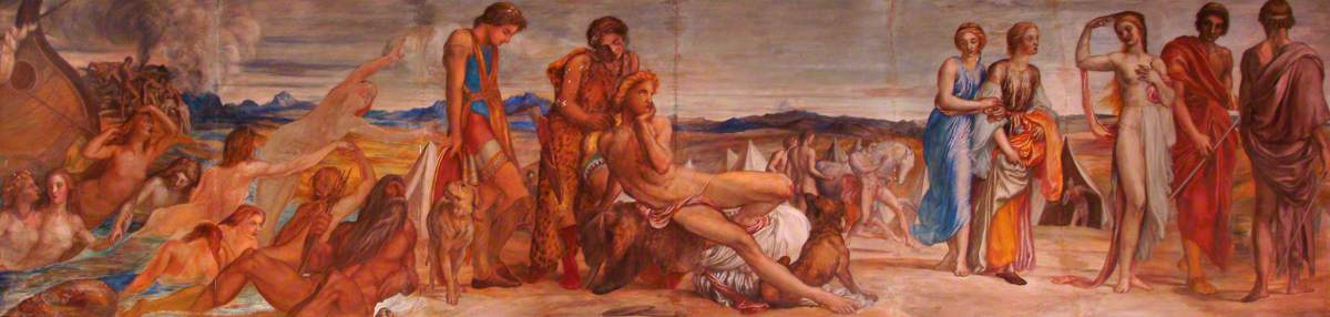 George Frederick Watts. Achilles and Briseis