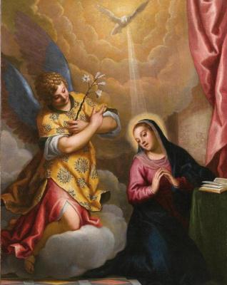Джакомо Пальма Младший. Благовещение Девы Марии