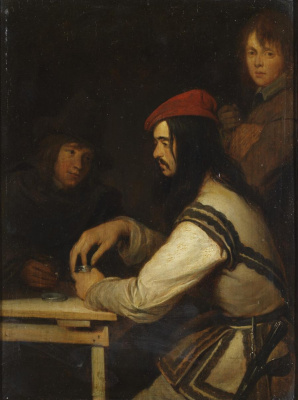Gerard Terborch (ter Borch). Three Men in a Tavern