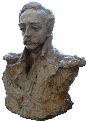 Anna Semyonovna Golubkina. Portrait of M. Yu. Lermontov