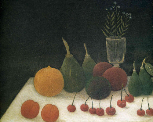 Henri Rousseau. Still life with cherries