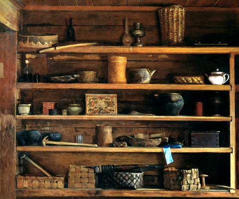 Nikolay Y. Anokhin. Rustic shelves