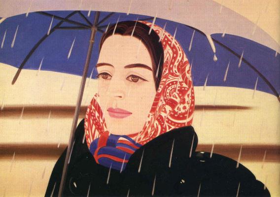 Alex Katz. Blue umbrella