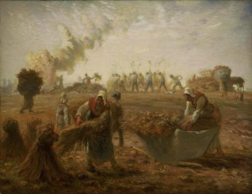Jean-François Millet. Summer: buckwheat harvest