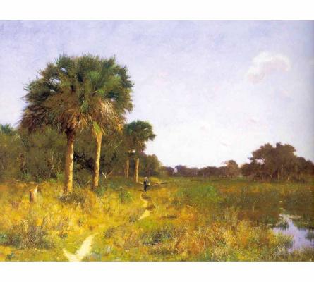 Уильям Лам Пикнелл. Середина зимы во Флориде