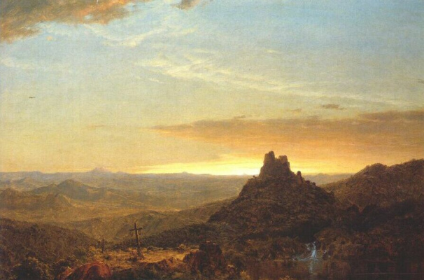 Frederick Edwin Church. Crossing the desert