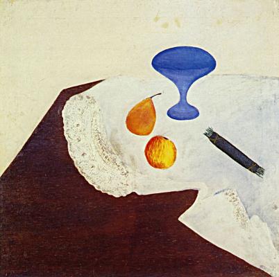 Давид Петрович Штеренберг. Натюрморт с голубой вазой