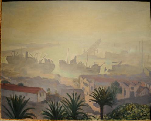 Альбер Марке. Алжирский порт в дымке