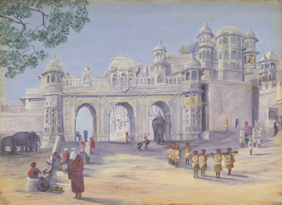 Marianna North. Palace Gate, Udaipur, India