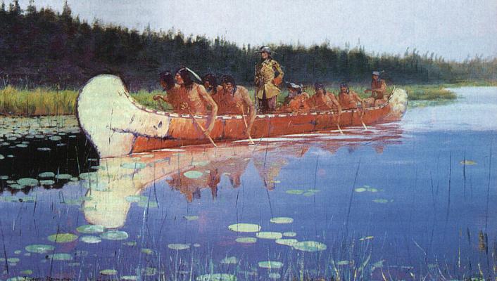 Фредерик Ремингтон. Плавание