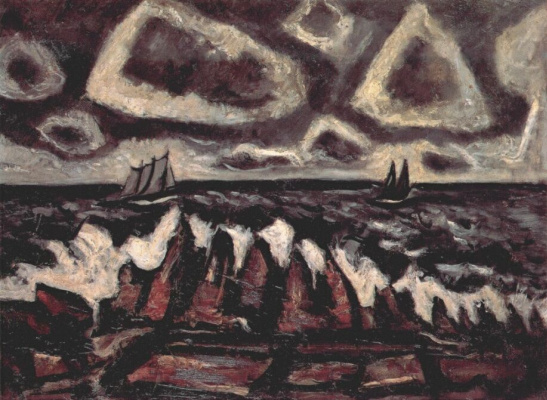 Marsden Hartley. Sea landscape
