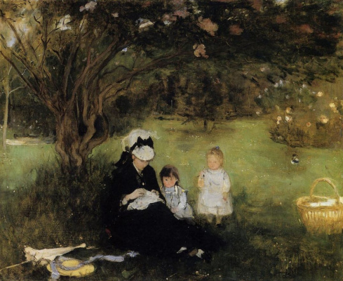 Berthe Morisot. Lilacs in Moremar