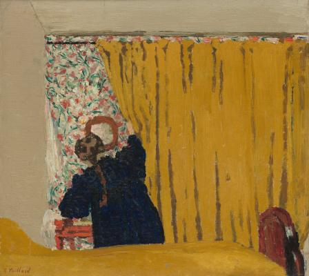 Jean Edouard Vuillard. The Yellow Curtain