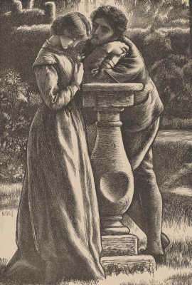 Arthur Hughes. The dial of the sundial