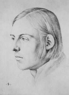 Julius Schnorr von Karolsfeld. Portrait of the artist Scheffer von Leonhardihof