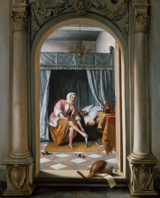 Jan Steen. The lady behind the toilet