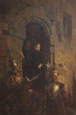 Василий Дмитриевич Поленов. Арест гугенотки Жакобин де Монтебель, графини д'Этремон