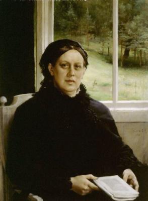Albert Gustav Aristide Edelfelt. Portrait of the artist's mother