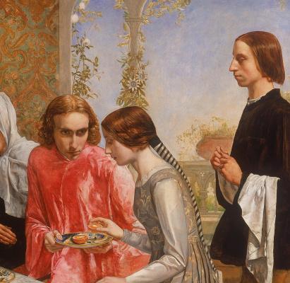 John Everett Millais. Lorenzo and Isabella. Fragment III