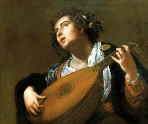 Artemisia Gentileschi. Woman playing the lute