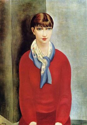 Моисей Кислинг. Девушка в красном свитере
