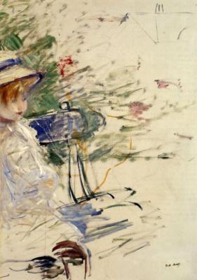 Берта Моризо. Маленькая девочка в саду