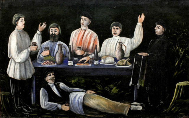 Нико Пиросмани (Пиросманашвили). Кутеж молокан