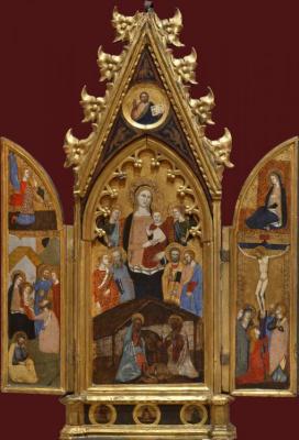 Андреа Бонаиути Да Фиренз. Мадонна со святыми и ангелами. Благовещение. Поклонение волхвов. Распятие