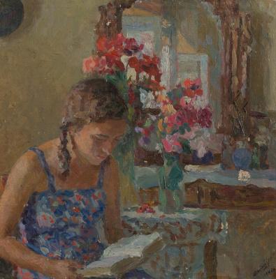 Mark Grigorievich Weinstein. Portrait of daughter in blue