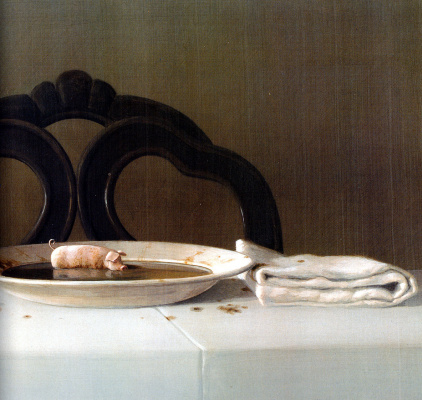 Michael Owl. Pig in soup, details