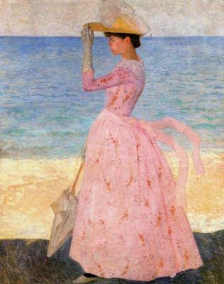 Аристид Майоль. Дама в розовом платье