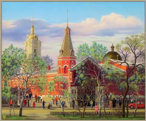 """Vasily Vasilyevich Timofeev. """"Pokrovskiy monastery"""", """"SV. Matron"""""""