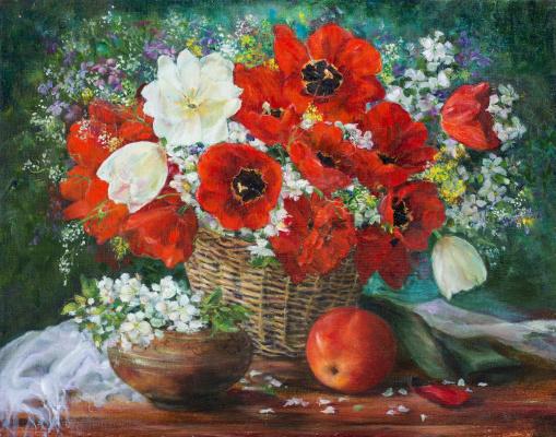 Марина Сенько-Дмитриева. Натюрморт с тюльпанами