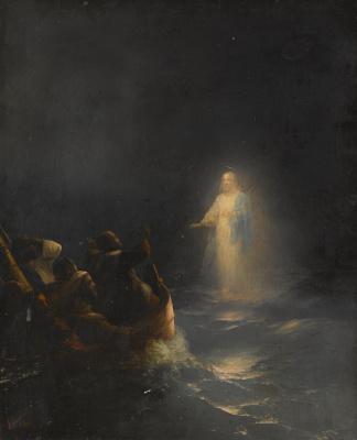 Иван Константинович Айвазовский. Иисус, идущий по воде