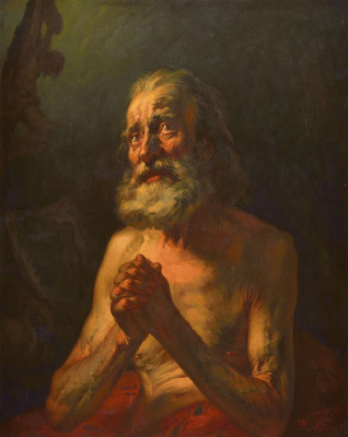 Jean-François Millet. Job's Prayer